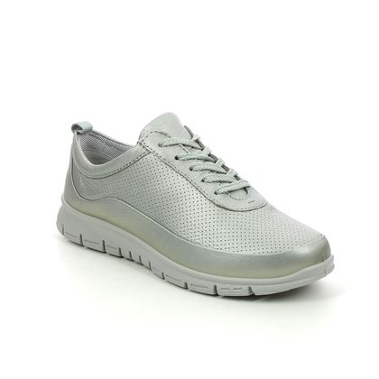 Hotter Comfort Lacing Shoes - Pewter - 9910/10 GRAVITY 2 WIDE FIT
