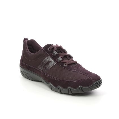 Hotter Comfort Lacing Shoes - PLUM - 9912/95 LEANNE 2 WIDE