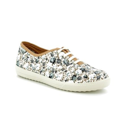 Hotter Trainers - Grey floral - 8112/00 MABEL E FIT