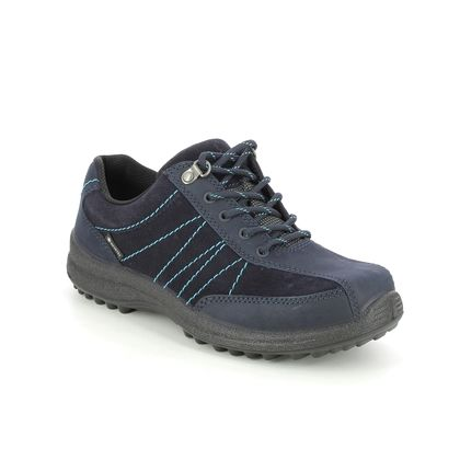 Hotter Walking Shoes - Navy leather - 9915/71 MIST GTX 95 E