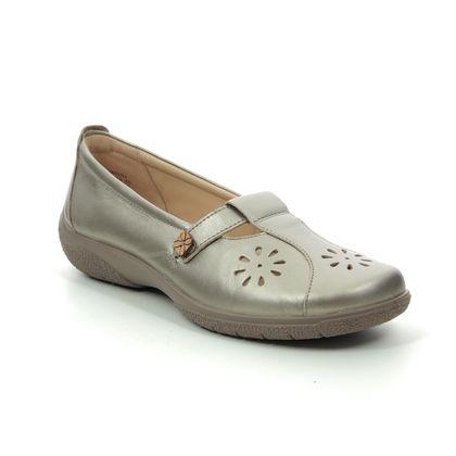 Hotter Comfort Slip On Shoes - Pewter - 0102/51 NIRVANA E FIT
