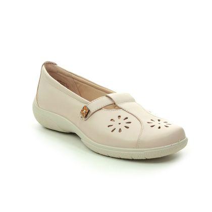 Hotter Comfort Slip On Shoes - Beige leather - 0102/53 NIRVANA E FIT