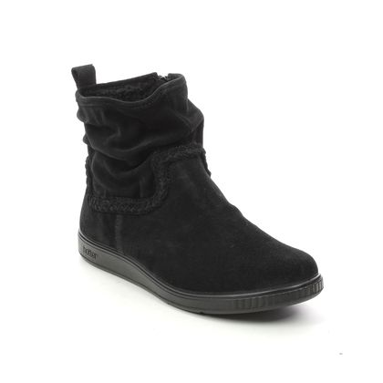 Hotter Ankle Boots - Black suede - 9928/33 PIXIE  2 WIDE F