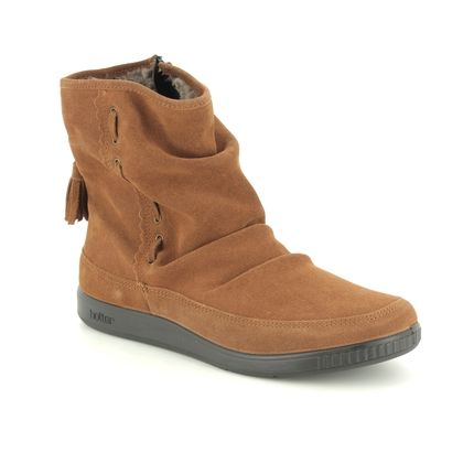 Hotter Fashion Ankle Boots - Tan Suede - 8506/11 PIXIE  NEW E
