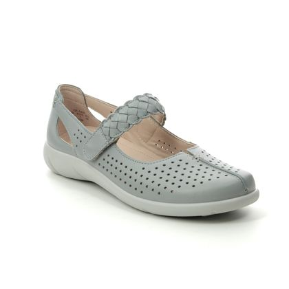 Hotter Mary Jane Shoes - Grey leather - 0106/00 QUAKE  E FIT