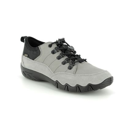 Hotter Walking Shoes - Grey leather - 9113/00 RYDAL GTX E FIT
