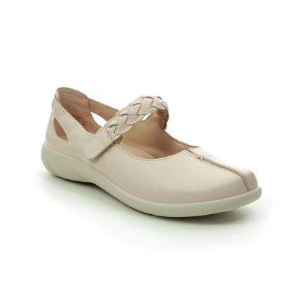 Hotter Mary Jane Shoes - Beige leather - 0108/53 SHAKE  E FIT