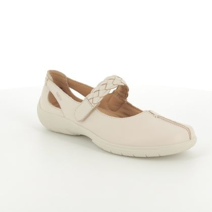 Hotter Mary Jane Shoes - Beige - 8111/53 SHAKE E FIT