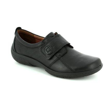 Hotter Comfort Slip On Shoes - Black - 7203/30 SUGAR