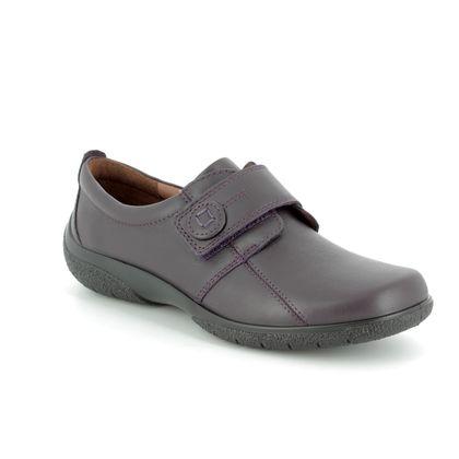 Hotter Comfort Slip On Shoes - PLUM - 7203/90 SUGAR