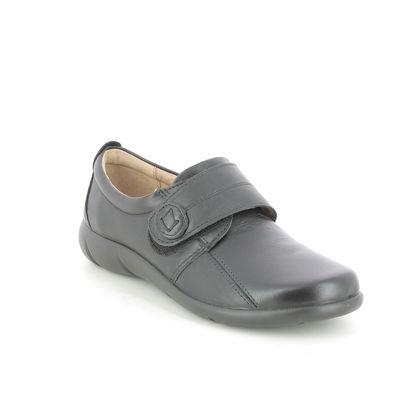 Hotter Comfort Slip On Shoes - Black leather - 9510/30 SUGAR 95 E FIT