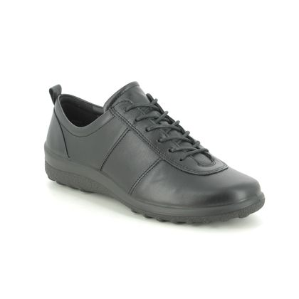 Hotter Comfort Lacing Shoes - Black leather - 0501/31 TANSY WIDE TONE