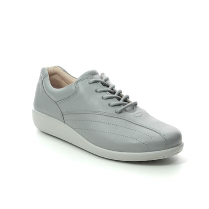 Hotter Comfort Lacing Shoes - Grey leather - 0105/00 TONE   01 E FIT