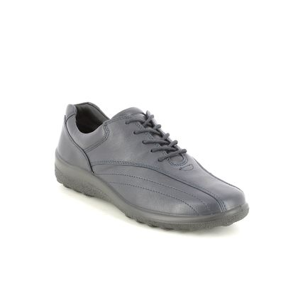 Hotter Comfort Lacing Shoes - Navy leather - 1502/71 TONE 2 WIDE FIT