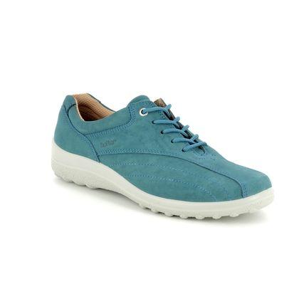 Hotter Comfort Lacing Shoes - Blue nubuck - 7208/72 TONE E FIT