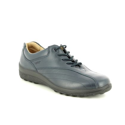 Hotter Comfort Lacing Shoes - Navy Leather - 8511/70 TONE   E FIT