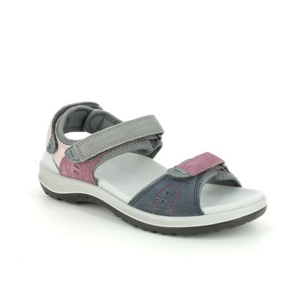 Hotter Walking Sandals - Multi Coloured - 9913/55 WALK 2 WIDE