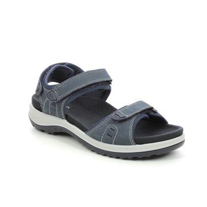Hotter Walking Sandals - Navy nubuck - 9913/73 WALK 2 WIDE