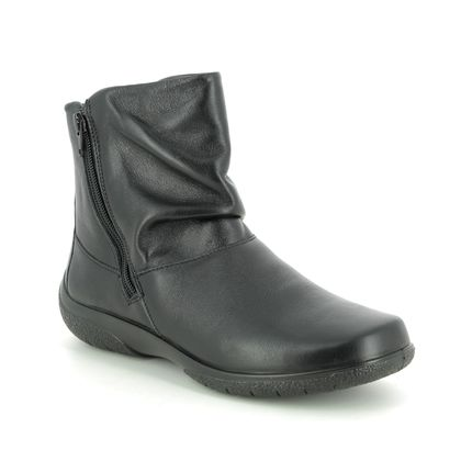 Hotter Ankle Boots - Black leather - 9503/30 WHISPER 95 E