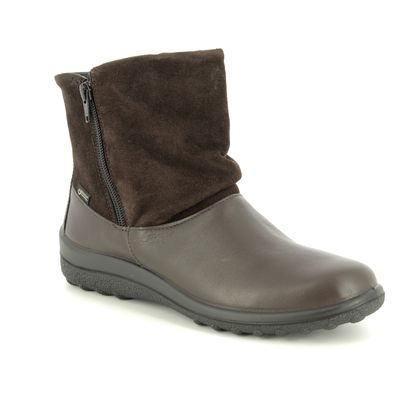 Hotter Fashion Ankle Boots - Brown leather - 8508/20 WHISPER GTX