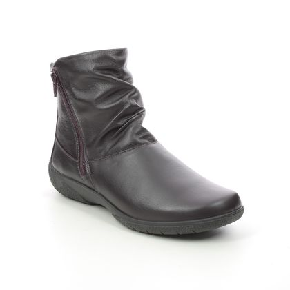Hotter Ankle Boots - PLUM - 9503/95 WHISPER STD FIT