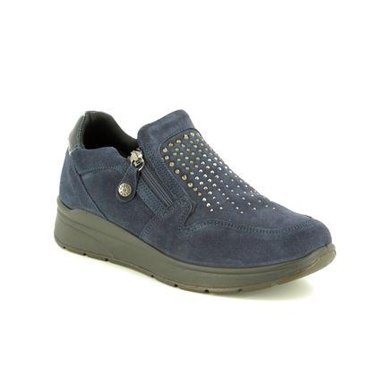 IMAC Comfort Slip On Shoes - Navy Suede - 6630/7171009 ALFA