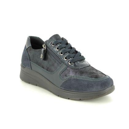 IMAC Comfort Lacing Shoes - Navy suede - 7980/7171009 ALFALACE 05