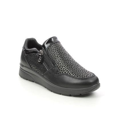 IMAC Comfort Slip On Shoes - Black Patent Leather - 6940/1400011 ALFALEP ZIP