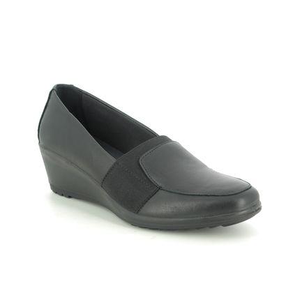 IMAC Comfort Slip On Shoes - Black leather - 6270/1400011 AMBRA