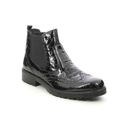 IMAC Chelsea Boots - Black croc - 5020/4160011 BRIGIT BROGUE