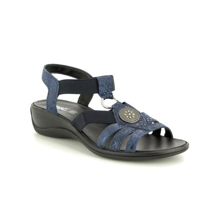 IMAC Comfortable Sandals - Navy Suede - 8651/74446009 CATHRYN