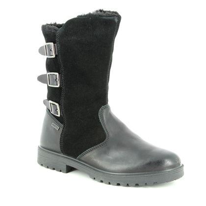 IMAC Girls Boots - Black leather - 0698/1998011 CHRIS HI TEX