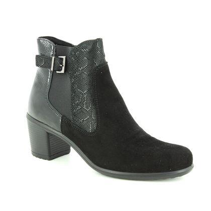 IMAC Fashion Ankle Boots - Black Suede - 5231/5920011 DAYTONETS