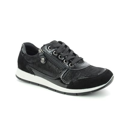 IMAC Trainers - Black patent suede - 7260/54020011 EDITH  01