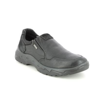 IMAC Slip-on Shoes - Black leather - 2558/3470011 ELVIN  SLIP TEX