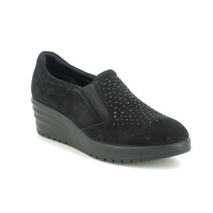 IMAC Wedge Shoes  - Black Suede - 6350/5920011 JULIA