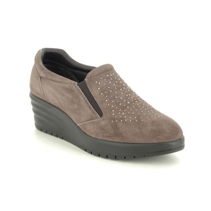 IMAC Wedge Shoes  - Taupe suede - 6350/5956017 JULIA
