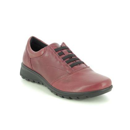 IMAC Comfort Slip On Shoes - Red leather - 7510/54178019 KAREN STRAP