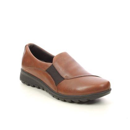 IMAC Comfort Slip On Shoes - Tan Leather  - 6200/11328017 KARENA