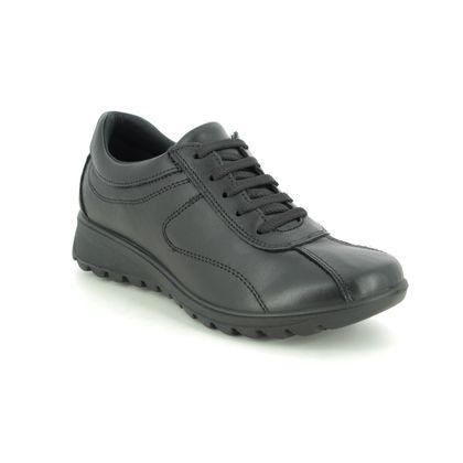 IMAC Comfort Lacing Shoes - Black leather - 7450/1400011 KARENAL 05