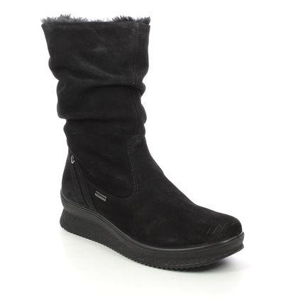 IMAC Mid Calf Boots - Black suede - 6369/7150011 KENIA  MID TEX