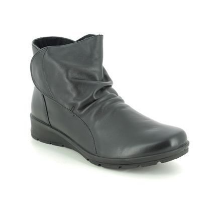 IMAC Boots - Ankle - Black leather - 7040/1400011 KRISTAL SLOUCH