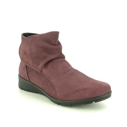 IMAC Boots - Ankle - Burgundy Leather - 7040/30177019 KRISTAL SLOUCH
