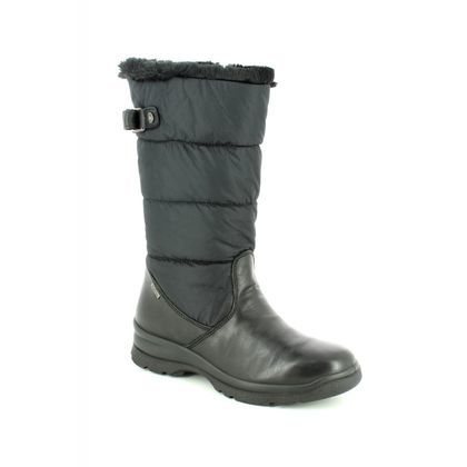 IMAC Boots - Ankle - Black leather - 8038/1400011 PAMELEA TEX 85