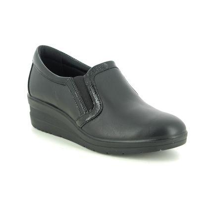 IMAC Comfort Slip On Shoes - Black leather - 7600/1400011 ROSE