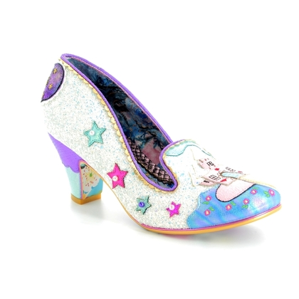 Irregular Choice Heeled Shoes - White - 4255-31A Little Misty