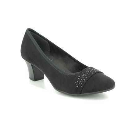 Jana Court Shoes - Black suede - 22466/24001 ABURA 1 H FIT