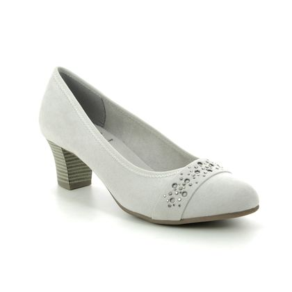 Jana Court Shoes - LIGHT GREY SUEDE - 22466/24204 ABURA 1 H FIT