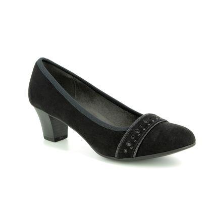 Jana Court Shoes - Black suede - 22474/21/001 ABURA 82 H FIT