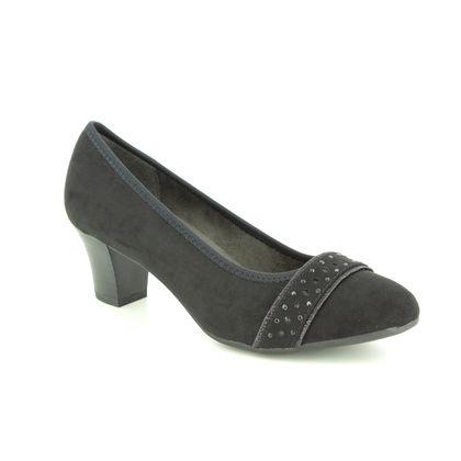 Jana Court Shoes - Black suede - 22474/22001 ABURA 91 H FIT